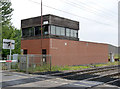 SK7964 : Carlton signal box by Alan Murray-Rust