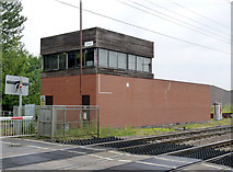 SK7964 : Carlton signal box by Alan Murray-Rust