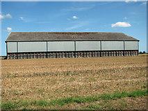 TF9038 : B1 hangar in crop field by Evelyn Simak