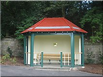 NT9953 : New shelter in Coronation Park by Graham Robson