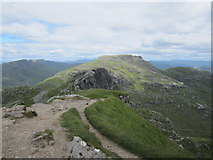 NN2505 : Looking towards the north peak of The Cobbler by David Medcalf