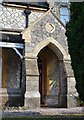 SX8570 : Mackrell's Almshouses, Wolborough Street, house entrance detail by Robin Stott