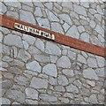 SX8571 : Side wall of 98 Wolborough Street, Newton Abbot by Robin Stott