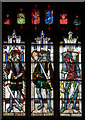 SP1501 : Stained glass window, N.III, St Mary's church, Fairford by J.Hannan-Briggs