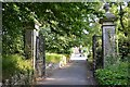 SX8670 : North side of gate pillars on a path to Forde House, Newton Abbot by Robin Stott