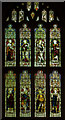 SO6532 : West window, St Bartholomew's church, Much Marcle by Julian P Guffogg