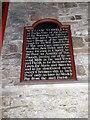 SX7569 : A charity board in the porch of Ashburton church by David Smith