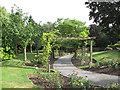 TQ4475 : Eltham cemetery: pergola by Stephen Craven