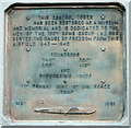 TM1881 : The 100th Bomb Group Memorial Museum - memorial plaque by Evelyn Simak
