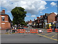 SK5907 : Closure of Melton Road by Mat Fascione