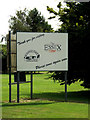TL8527 : Sign at the entrance of Earls Colne Business Park by Adrian Cable