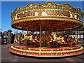 SJ3589 : Fairground ride in then grounds of Liverpool Anglian Cathedral by Steve  Fareham