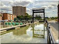 SK9871 : Witham Navigation, Stamp End Sluice and Boom by David Dixon