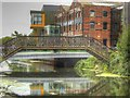 SK9770 : Disused Footbridge over River Witham, Brayford Wharf by David Dixon