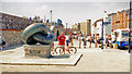 SZ6399 : Portsmouth Harbour: Australian Settlers' monument in Broad Street, 1999 by Ben Brooksbank