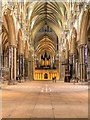 SK9771 : The Nave, Lincoln Cathedral by David Dixon