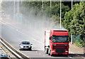 J3675 : Lorry and dust, Sydenham bypass, Belfast (August 2014) by Albert Bridge