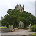 SK7267 : Churchyard gateway, Laxton by Alan Murray-Rust