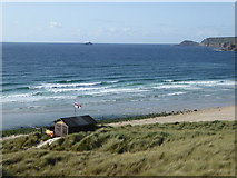SW3526 : The lifeguards' hut at Sennen by Rod Allday