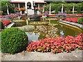 SZ0589 : Flowers by pool in Italian Garden by Paul Gillett