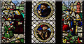 ST5545 : Stained glass window s.VI, Wells Cathedral by Julian P Guffogg