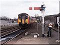 NY9464 : Train entering Hexham station - 1992 by The Carlisle Kid