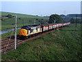 NY5520 : Trains at Thrimby Bridge (WCML) - 1992 (1) by The Carlisle Kid