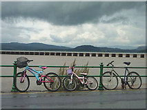 SD4578 : Bicycles on the promenade at Arnside by Karl and Ali