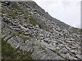 SH7054 : Scree slope, below Moel Siabod by Roger Cornfoot