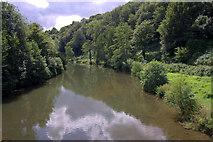 SO5074 : River Teme at Dinham Bridge, Ludlow by Mike Pennington