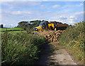 SD4864 : Dumper crosses Green Lane by Ian Taylor