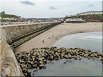 NZ8911 : Whitby Sands from West Pier, Whitby by Christine Matthews