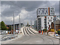 SK5739 : Southern ramp to the Karlsruhe Friendship Bridge by Alan Murray-Rust