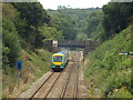 TQ4644 : Train leaving Hever by Malc McDonald