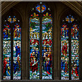 ST5545 : Stained glass window,  Wells Cathedral by Julian P Guffogg
