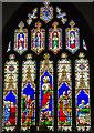 ST5445 : East window, St Cuthbert's church, Wells by Julian P Guffogg