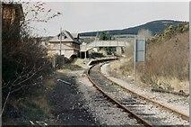 SS8591 : Maesteg Castle Street railway station (site), Bridgend, 1994 by Nigel Thompson