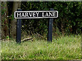 TM2995 : Harvey Lane sign by Adrian Cable