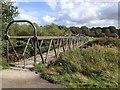 SD6526 : Footbridge over the River Darwen, Witton Park by John Darch