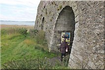 NU1341 : Lime kilns near Lindisfarne Castle by Jim Barton