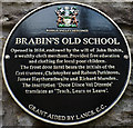SD6243 : Plaque on Brabin's Old School, Chipping by Karl and Ali