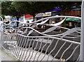 ST1876 : Fishy railings by Neil Owen