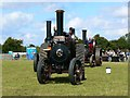 SP0902 : Traction engine race, Fairford Steam Rally, Quarry Farm, Poulton, Gloucestershire by Brian Robert Marshall