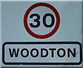 TM2993 : Woodton Village Name sign by Adrian Cable