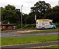 ST2991 : Ice cream van in Oliphant Circle, Malpas, Newport by Jaggery