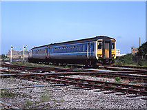 SD4364 : Train leaving Morecambe station - 1993 by The Carlisle Kid