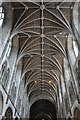 SO5039 : Nave roof, Hereford Cathedral by Philip Halling