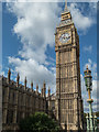"""TQ3079 : Cleaning the Clock face """"Big Ben"""", Elizabeth Tower, Palace of Westminster by Christine Matthews"""
