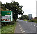 ST9388 : Destinations sign north of Malmesbury by Jaggery