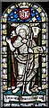 TM4189 : St Bene't Minster - stained glass by Evelyn Simak